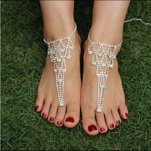 Accessories - Restocked! PAIR! Bare Foot Chain Sandals